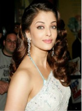 100% Human Hair Long Aishwarya Rai Bright Brown Deep Wave Monofilament Top Lace Wigs