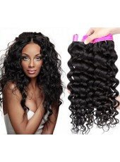 Peruvian Virgin Hair Grade 5A  Human Hair Weave Curly Hair Extensions  About 16 Inches