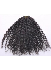 Kinky Curl Natural Color Brazilian Virgin Hair Weave About 24 Inches