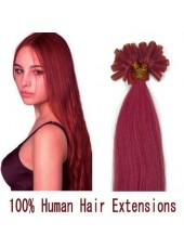 18 Inches Pink Beautiful U Tip 100% Human Hair Extensions