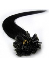 22'' Pure Black 100% Human Hair U Tip Extensions