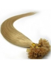 18'' Blonde Silky Straight 100% Human Hair U Tip Extensions