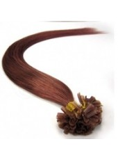 18'' Bright Brown 100% Human Hair Nail Tip Extensions