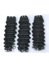 Deep Curly Natural Color Brazilian Virgin Hair Extensions About 10 Inches