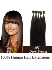 18 Inches Dark Brown #2 Stick/I Tip Hair Cheap Extensions