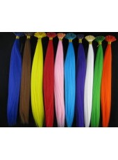 16 Inches Colorful Silky Straight Heat Resistant Stick Tip Feather Hair Extensions 100 Bundles / Pack