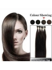 18'' Black 1Pack Stick/I Tip Human Hair Extensions