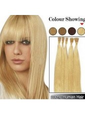 24 Inches Light Blonde Stick/I Tip 100% Human Hair Extensions