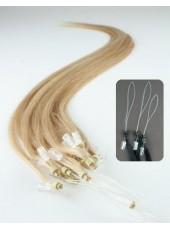 18'' Blonde 200Stands Submissive Micro Loop Ring Human Hair Extensions