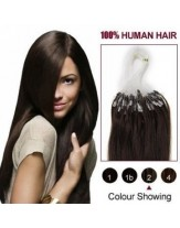 22'' Dark Brown #2 Micro Loop Ring Top Quality Human Hair Extensions