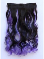 20'' Natural Black And Purple Taro Beautiful Heat Resistant Hair Extension