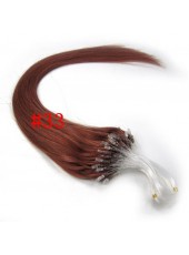 24 Inches Auburn Silky Straight Micro Loop Ring Human Hair Extensions