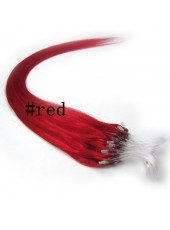 22 Inches Custom Red Human Hair Micro Loop Ring Wholesale Hair Extensions