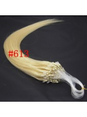 20'' Light Blonde #613 100Stands Micro Loop Ring Human Hair Extensions
