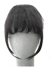 Natural Black Long Sidebums Curly Heat Resistant Hair Bangs