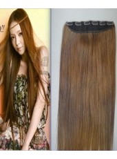 30'' Top Quality Brown Straight 1Piece Clip In Real Indian Human Hair Extension