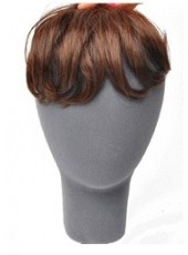 Dark Brown Heat Resistant Wavy Fashion Bangs