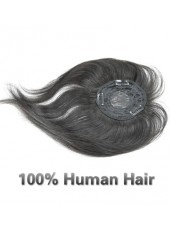100% Human Hair Natural Black Top Of Head Bangs