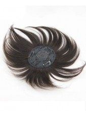 12'' Natural Black Top of Head 100% Human Hair Bangs