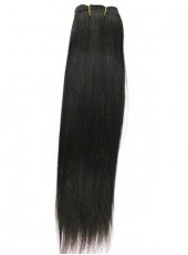 Natural Black Brazilian Straight Weave 100% Human Hair About 12 Inches