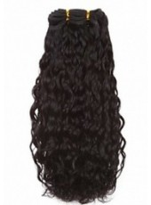 14'' Pure Black Top Quality Indian Human Hair Fashion Curly Weave