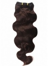 Wholesale Top Quality Bright Brown Wavy Real Human Hair Weave About 16 Inches
