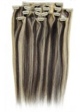 20'' Mix Color Silky Straight 7Pcs Clip In Human Hair Extensions