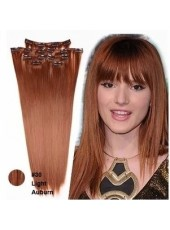 10'' Bright Brown(#30) Straight 7Pcs Clip In Human Hair Extensions