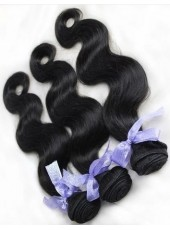 Fashion Trend Brazilian 100% Human Hair Pure Black Weave About 20 Inches