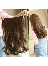 20'' Light Brown Wavy 1Piece Clip In Top Quality Synthetic Hair Extension
