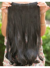 20'' Natural Black Wavy 1Piece Clip In Synthetic Hair Extension