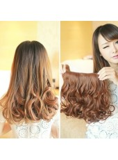 14'' Beautiful Top Quality Bright Brown 1Piece Clip In Heat Resistant Extension