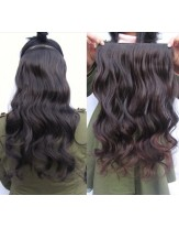 20'' Natural Black Wavy 1Piece Clip In Top Quality Heat Resistant Hair Extension