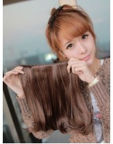 12'' Brown Wavy Bouncy 1Piece Clip In Heat Resistant Cheap Extension