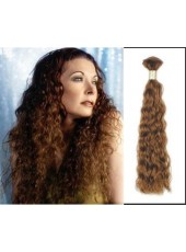 22'' Wavy Bouncy Bright Brown 1Pack Remy Human Hair Extensions