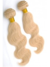 10'' Brazilian Virgin Hair Light Blonde Wavy Bouncy Beautiful Weave