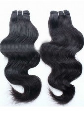 16'' Natural Black Wholesale Brazilian Human Remy Hair Wavy Weave