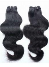 16'' Natural Black Wholesale Brazilian Human Remy Hair Wavy Weave