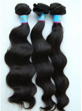 14'' Natural Black Wholesale 3Pieces 300g 100% Human Hair Silky Weave