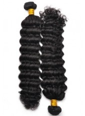 New Arrival Top Quality Brazilian Virgin Hair Pure Black Curly Weave About 22 Inches