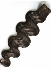 16'' Wholesale Natural Black Wavy High Quality Human Remy Hair Weave