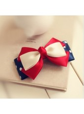 Hot Sell Sweet Handcraft Bowknot Blue Hairpin