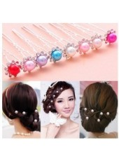 New Arrival Hairpin Fully-Jewelled U Style Hair Stick 8 Pieces