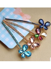 Korean Crystal  Bowknot Hairpin (Four Colors)
