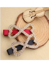 Korean Crystal Bowknot Rhinestone Hairpin (Two Colors)