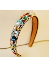 Korea Style Top Quality Colorful Diamond Head Hoop Hairpin
