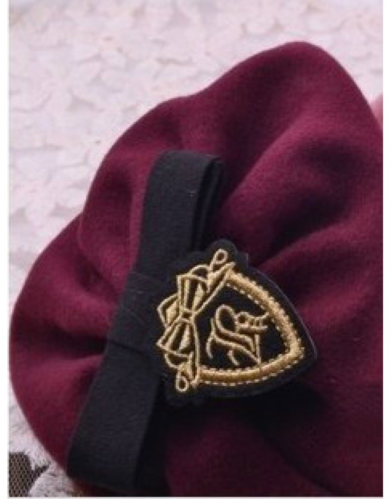 Beautiful Wide Brimmed Cap Top Quality Headband With Emblem